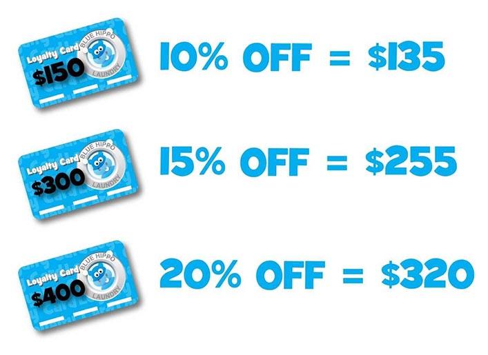 Loyalty discounts laundromat Melbourne